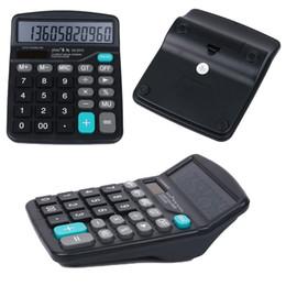 Étui de bureau portatif pour ordinateur portable ou batterie solaire 2in1 Powered 12 chiffres calculatrice électronique avec Big Button, emballages boîte de détail à partir de bureau de la calculatrice fabricateur