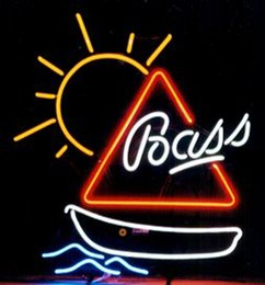 Wholesale Bass Sailboat Neon Sign Custom Handmade Real Glass Tube Store Beer Bar KTV Club Pub Hotel Adverisement Display Neon Signs quot X17 quot