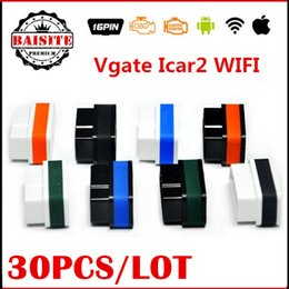 Wholesale Best Price Vgate wifi iCar ELM OBD2 OBDII Car Diagnostic Tool wi fi iCar2 wifi for Android iOS PC
