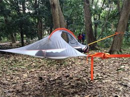 Wholesale NEW Ultralight Hanging Outdoor Portable Tree Tent Camping Hiking Hammock treehouse person use tent Set up time minutes