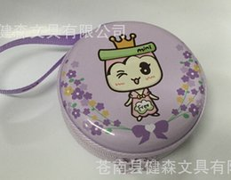 Wholesale Fun s Zipper Cylinder Storage Bag Korean Style Lovely Headphone Coin Purse