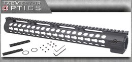 Vector Optics AR15 M4 Slim KeyMod 15 inch Tactical Free Float Handguard Mount with Steel Barrel Nut & Detachable Rails , Shim Rings , Tools