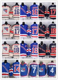 Wholesale New York Ice Hockey Rangers Jerseys GRESCHENR GILBERT SHANAHAN AVERY DUBINSKY17 STAAL drop shopping freeshipping