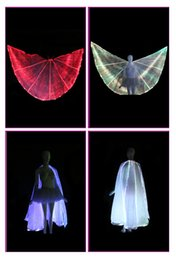 Wholesale LED butterfly opening wing belly dance wing led isis wing girl party dress ballroom dance dresses led dance costumes