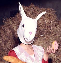 Alpaca mud horse rabbit red deer latex mask headgear cos party headgear