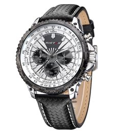 Men's sports single calendar watch three eyes six needle waterproof quartz machine core luxury watch 2017 new free delivery
