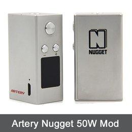 Wholesale Original Artery Nugget Box Mod Nugget W TC Mod mah by Artery Vapor VS Joyetech eGo Aio sigelei DHL Free TZ707