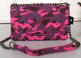 Wholesale LE BOY Bag Black COWBOY CLOTH CAMOUFLAGE LEY BOY CHAIN BAG FLAP BAG
