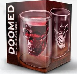 Wholesale Hot Doomed Crystal Skull Head Vodka Shot Glass Pirate Vaccum Glasses Beer Mug Ounces ML Cup Drinking Ware Home Bar