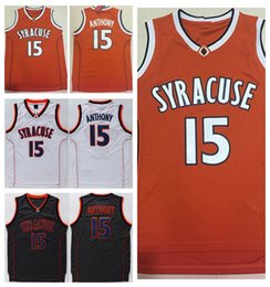 Wholesale College Camerlo Anthony Jersey Shirt Syracuse Orange Uniforms Fashion Rev New Material Black Orange White Best Quality