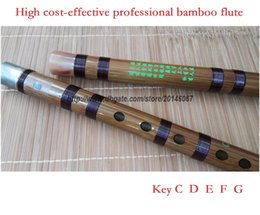 Wholesale professional dizi Chinese bamboo flute musical instrument copper joint coffee wiring in Key C D E F G cost effective price