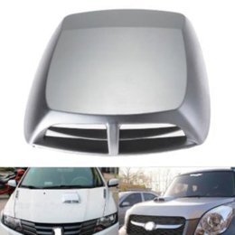 Wholesale new fashion Silver Auto Decorative Air Flow Intake Hood Bonnet Cover Universal Cheap hood replacement