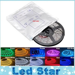 Wholesale 5M Led Strips Light Warm White Red Green Blue RGB Flexible M Roll Leds V outdoor Ribbon Waterproof