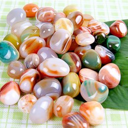 Wholesale Natural agate stone piece Onyx Crystal Reiki Healing Chakra Aventurine Stone Craft Gift mm Marble Decorative Stone carving