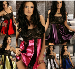 Wholesale Europe US sexy lingerie women s perspective gauze nightgown split club suit sexy paint net yarn lingerie and sexy lingerie