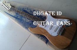 Wholesale USA Custom Shop ST Natrual Wood Electric Guitar Pickups Stratocaster Guitar