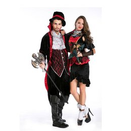Wholesale New Vampire Hunter Cosplay Costumes Cool Mens Vampire Counts Suit Best Devil Outfit Adult Classic Halloween Carnival Costume