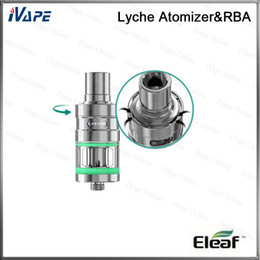 100% Original iSmoka Eleaf Lyche Atomizer 4ml Top Airflow Control Bottom Cup Design With NC Head Lyche Tank With RBA Version Available