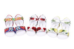 Wholesale Wlmonsoon Summer Toddler Girl Sandals Shoes Fashion Girls Sandals Floral Soft Baby Shoes Children Flower Kids Girls Casual Beach Shoes