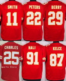 Wholesale New Chiefs Elite Mens Stitched Travis Kelce Eric Berry Marcus Peters Alex Smith Tamba Hali Jerseys Drop Shipping