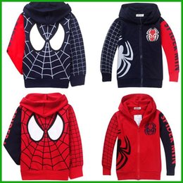 Wholesale hot selling big promotion boys girls spiderman hoodies long sleeved t shirts swearshirts coat fashion style casual sports jacket outwear