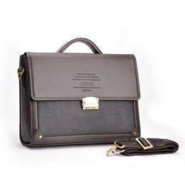 TMYOY Men Casual Briefcase Business Shoulder Leather Bag Men Messenger Bags Computer Laptop Handbag Bag Men's Travel Bags BG289