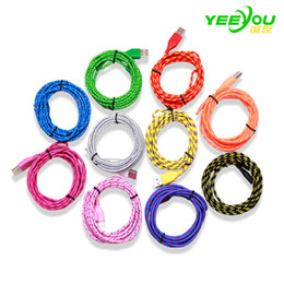 Micro USB Cable braided Colorful 1M Aluminum Data Sync Charger Cord Weave Rope Line For Android Huawei Xiaomi Samsung Galaxy S7 S8 plus