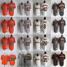 Wholesale 8 Hunter Pence Buster Posey Jersey Brandon Crawford Madison Bumgarner Jersey San Francisco Giants Jerseys Coolbase Baseball jersey