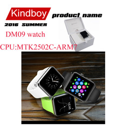 Wholesale 2016 DM09 Bluetooth lemfo Smart Watch Phone Support SIM Card D ARC HD Screen Camera Wearable Magic Knob Sync For Android IOS