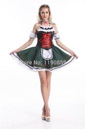 Wholesale HOT China Supplier Sexy Bavarian Beer Girl Maid Ladies Oktoberfest Waitress Fancy Dress Womens Costume