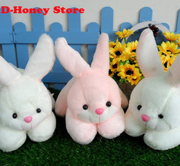 Super Kawaii 30CM Plumpy BOBO Rabbit Plush Stuffed TOY DOLL animal toys for children white pink color rabbit