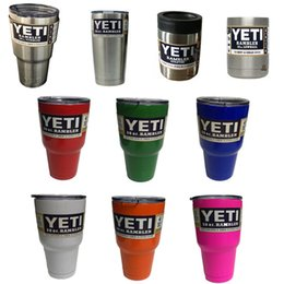Wholesale YETI oz Stainless Tumbler oz oz oz colors Rambler Cups Yeti Coolers Cup Yeti Sports Mugs Large Capacity Stainless Steel Travel Mu