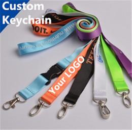 Wholesale Designer carabiner Custom Made Keychains Plain Blank Printing Logo Nylon Hanging Belt Lanyard Exhibition Badge Sling Personaliznalized Gifts