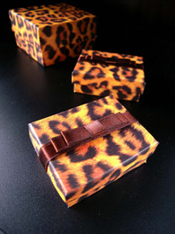 [Simple Seven]Lovers Ring Box Leopard Printing Pedant Box  Fashion Necklace Package  Special Jewelry Case Trend Earring Studs Box Ribbon