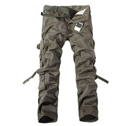 Free Shipping Men's Camo Cargo Multi-pocket pants Mens casual matchstick trousers Men military Camouflage trousers pants