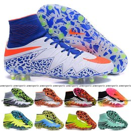 Wholesale 2016 New Spark Brilliance ACC Soccer Cleats Olympic Hypervenom Phantom II FG High Ankle Football Shoes Boots Mens Cleats Sports Sneakers