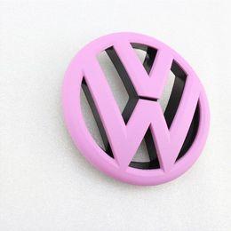 Wholesale Pink Front Grille Grill VW Emblem Badge Replacement Fit For Volkswegen Jetta MK6 Emblems Cheap Emblems