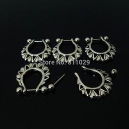 Descuento pendientes del pezón envío 20pcs al por mayor 1.2 * 12 * 5/5 mm (16G) la perforación del oído acero inoxidable pendiente de la perforación del anillo del pezón