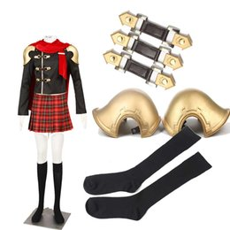 HOT Game Final Fantasy Zero Type-0 Class Zero Deuce Cosplay Costume Full Set For Female Handmade