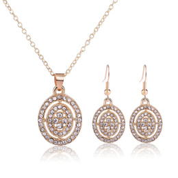18k Crystal Necklace Earrings Jewelry Sets 2016 Newest Fashion Women FuLL Rhinestone Jewelry For Party Jewelry Sets 1446
