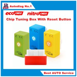 Wholesale ECOOBD2 Nitroobd2 Benzine Car Plug Drive OBD2 Chip Tuning Box Lower Fuel Lower Emission House Powerfult tool With Reset Button