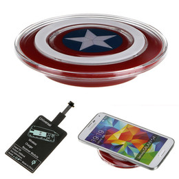 Wholesale Avengers Edition Qi Wireless Charger Charging Pad for SAMSUNG GALAXY S6 G9200 S6 Edge S7 S7Edge Note5 Lumia LG G4G3 D1
