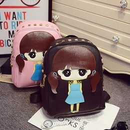 Wholesale Korean Cartoon Small West Cute Girl Backpack Personality Fashion Handbag Bag Shoulder Bag Rivets Students