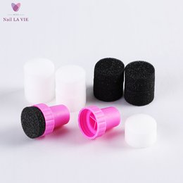 Wholesale 5pcs Nail Art Sponge Stamp Stamping Polish Template Nail Art Paint Stencil for Nail Art Print Tool Sponge Nail Art Kit