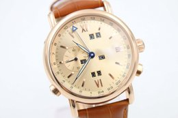 Luxury Brand Auto-Watch Men Rose Gold Dial Orange Leather Band Gold Steel Skeleton Glass Back Marien Clock Free Shipping Hkpost