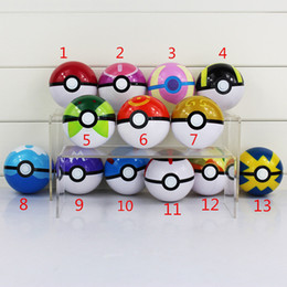 7CM 13 Styles Poke Ball Figure ABS Action Figures Toys Super Master for kids gift Free Shipping