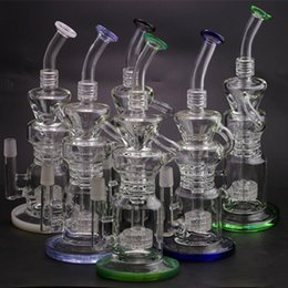 Wholesale Best selling Recycler vapor rig scientific bong phonix glass bong water pipe Pulse bong BIO glass dabrigs glass water pipe barrel recycler