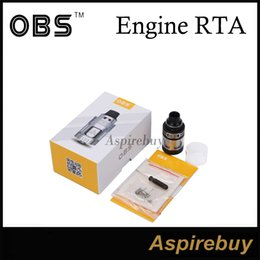Wholesale OBS Engine Tank ML RTA mm Rebuildable Tank Supports Airflow Circulation Systems Top Filling Design with DIY Desk OBS Engine Tank Genius