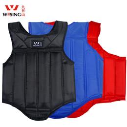 Wholesale MMA Boxing Chest Guard Muay Thai Kickboxing Taekwondo Wushu Karate Sanda Chest Armor Protector Breast Fight Training