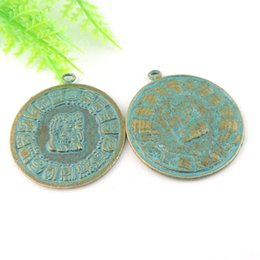 12pcs Antique Bronze Coin Charm Pendant Jewelry Finding 34*30*1mm 39022 jewelry making